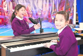 Ruby Noone and Kim O'Neill from 3rd Class at Robertstown National School